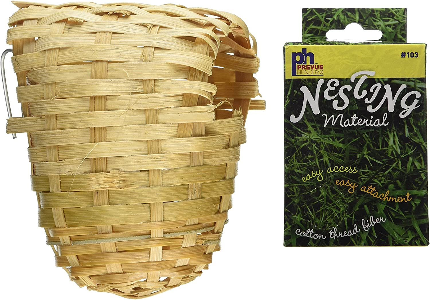 Prevue Pet Products Bamboo Covered Finch a Selling and selling free shipping Nest Twig Bird Plus