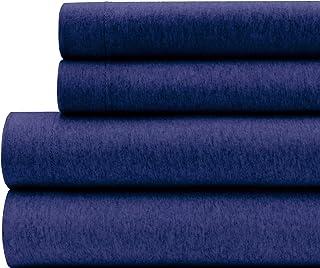 Briarwood Home 100% Cotton Heather Printed Flannel Sheet Set - 4 Piece Brushed Turkish Bedding - Super Soft, Warm, Cozy, D...