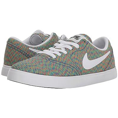 Nike SB Kids Check Premium (Big Kid) (Multicolor/White/Black) Boys Shoes