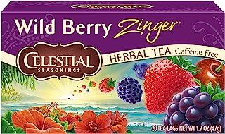 Celestial Seasonings Herbal Tea, Wild Berry Zinger, 20 Count Box
