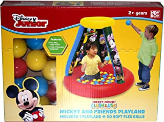 Disney Mickey & Friends Playland With 20 soft flex balls NB910335