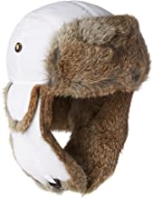 Mad Bomber Chocolate Brown Supplex Pilot Aviator Hat Real Rabbit Fur Trapper Hunting Cap