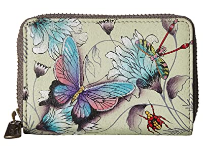 Anuschka Handbags 1110 Credit And Business Card Holder (Wondrous Wings) Coin Purse
