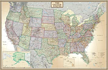 paper map of the united states Amazon.: 24x36 United States, USA US Executive Wall Map Poster