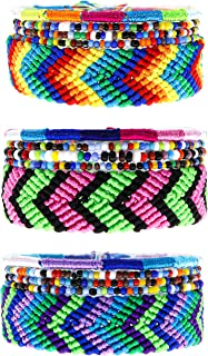 FROG SAC 15 VSCO Girl Friendship Bracelets for Teens, Woven Boho Bracelets for Women, Beaded Stretch Friendship Bracelet for Teen Girls, Friendship Bracelet Set, Beachy Surfer VSCO Girl Stuff Things
