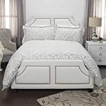 Rizzy Home DOH Sacred Emotion Duvet Set, Queen, Taupe