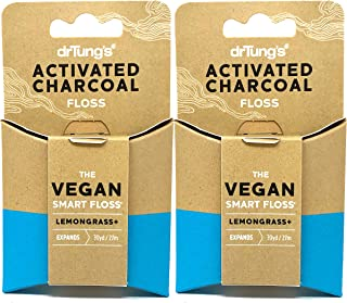 Dr. Tung's Activated Charcoal Vegan Smart Floss 30 Yards (Pack of 2)
