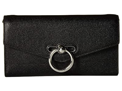Rebecca Minkoff Jean Wallet On Chain (Black) Wallet Handbags