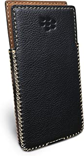 BlackBerry KeyOne Leather Case with Built-in Holster No Belt Clip (Dot Black)