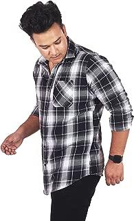 classic denim Black Check Casual Shirt