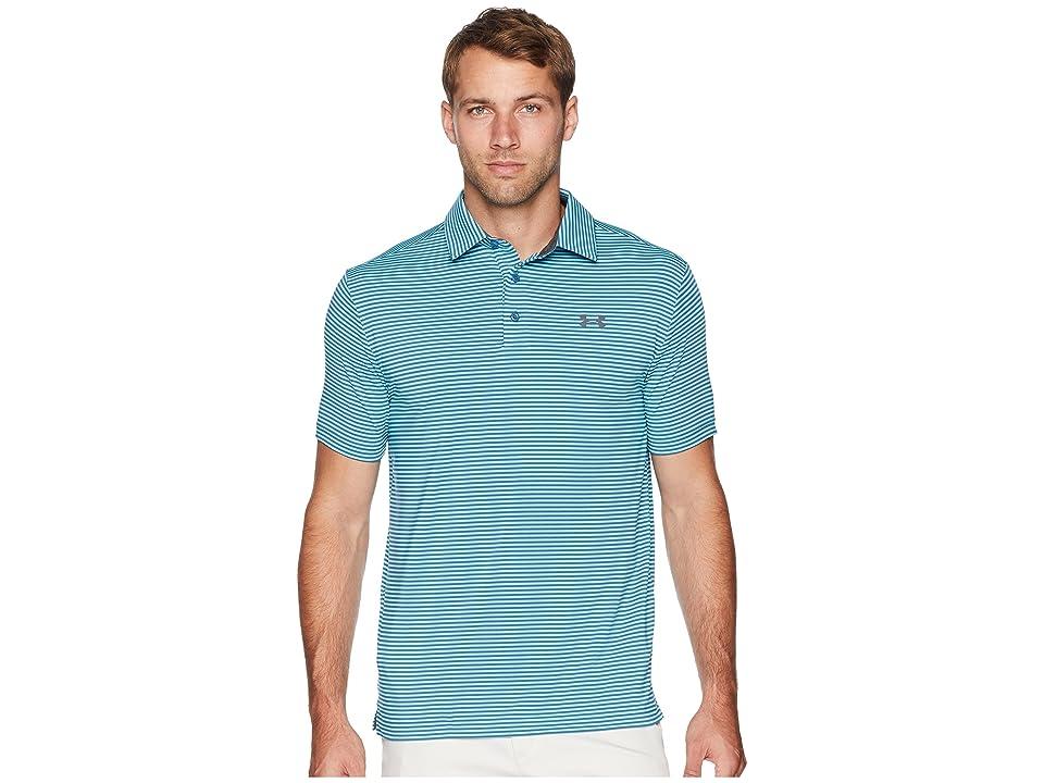 Under Armour Golf UA Playoff Polo (Venetian Blue/Static Blue/Rhino Gray) Men