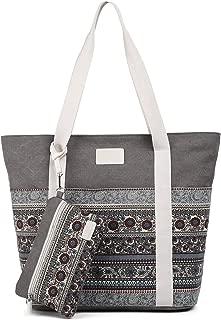 Canvas Tote Womens Shoulder Handbag with Purse