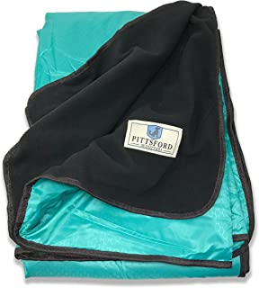 Pittsford Outfitters Spectator Outdoor Blanket | All Purpose Extra Large Rainproof & Windproof Stadium, Camp, Beach, or Picnic Blanket with Extra Soft, Plush & Warm Fleece Backing