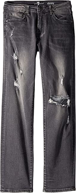7 For All Mankind Kids - Slimmy Slim Straight Jeans in Highline (Big Kids)