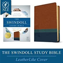 The Swindoll Study Bible: New Living Translation, Brown, Teal & Blue: Trusted Wisdom, Practical Application, Refreshing Insight