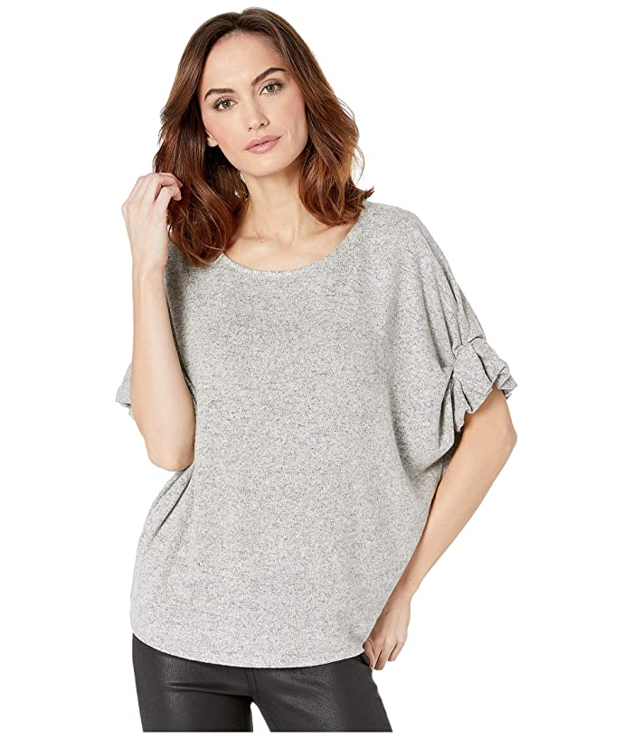 B Collection by Bobeau Laney Roll Sleeve Tee (Heather Grey) Women