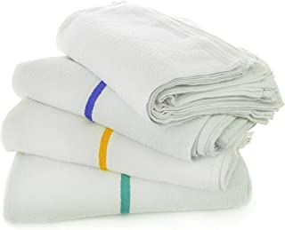 Chakir Turkish Linens Kitchen All-Purpose Bar Mop Towels, Cotton, Professional Grade for Home Kitchen or Restaurant Use - 24-Pack - White (16