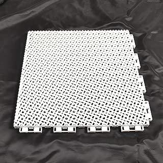 White Color Modular Interlocking Multi-Use Deck Tile Safety Floor Matting (Single Tile)