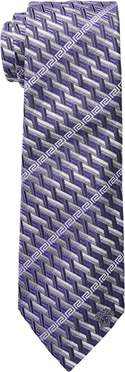 Greca Stripe Tie
