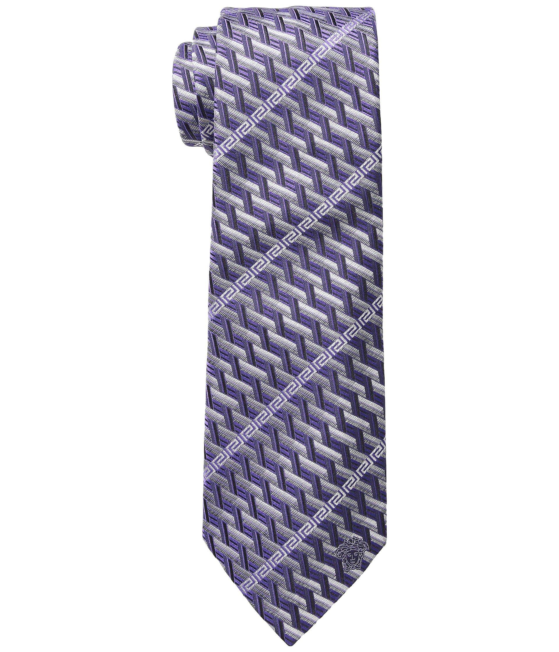 Corbata para Hombre Versace Greca Stripe Tie  + Versace en VeoyCompro.net