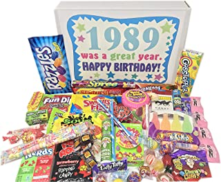 Woodstock Candy ~ 1989 BIRTHDAY GIFTS -30th Birthday Gift Ideas - Retro Nostalgic Candy Assortment from Childhood - 30th Birthday Gifts for Men and Women 1989 Candy Box