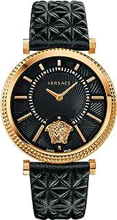 Versace - Reloj Análogo clásico para Mujer de Cuarzo con Correa en Cuero VQG040015