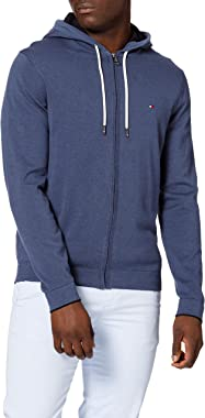 Tommy Hilfiger Tipped Double Face Zip Hoodie Sweatshirt Capuche Homme