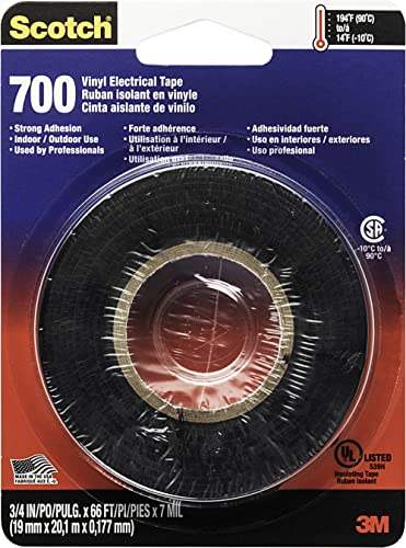 3M Safety Scotch Electrical Tape, 3/4-in by 66-Foot, Multicolor