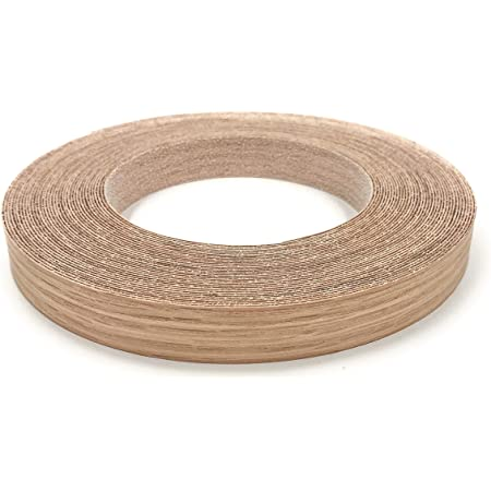 Edge Supply Red Oak 3/4 inch X 50 ft Roll of Plywood Edge Banding – Pre-glued Real Wood Veneer Edging – Flexible Veneer Edging – Easy Application Iron-on Edge Banding for Furniture – Made in USA