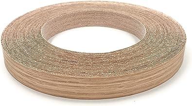 "Edge Supply Red Oak 3/4"" X 50' Roll Preglued, Wood Veneer Edge Banding, Iron on with Hot Melt Adhesive, Flexible Wood Tape..."