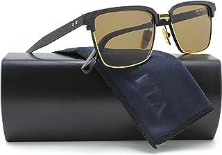 e46773cd39c DITA DRX 2076 Aristocrat Sunglasses Matte Black Gold w Brown (DRX-2076