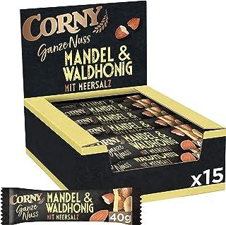 Corny Ganze Nuss Mandel & Waldhonig mit Meersalz, Nussriegel, 15er Pack 15 x 40g