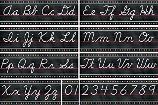 Teacher Created Resources Chalkboard Brights Cursive Writing Bulletin Board Set (TCR5858)
