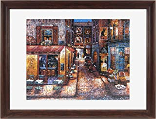 MCS 16x21 Inch Puzzle Frame for Puzzle Sizes 14.25x 19.25 Inch & Smaller, Walnut (65737)