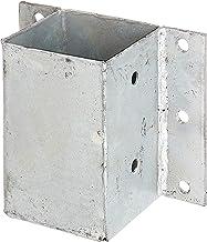 GAH-Alberts 208738 paalhouders voor L- en U-stenen of muren, om vast te schroeven, thermisch verzinkt, 91 x 91 mm