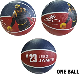 iSport Gifts James Basketball ✓ Size 5 for Kids & Adult ✓ Premium Gift Lebron Basketball ✓ Unique Design ✓ Durable Soft Construction