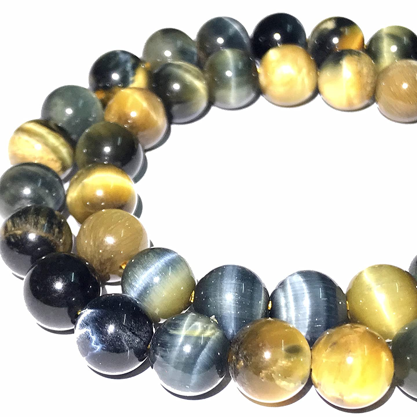 [ABCgems] African Blue Tiger Eye (Beautiful Flash- Exquisite Matrix) Tiny 6mm Smooth Round Beads for Beading & Jewelry Making