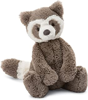 Jellycat Bashful Raccoon Stuffed Animal, Medium, 12 inches