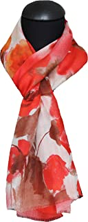 tessago modal 100% fiocco arancio sciarpa ms 45 x 180 collezione