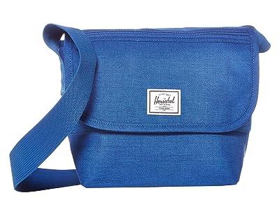 Herschel Supply Co. Grade Mini (Monaco Blue Crosshatch) Messenger Bags