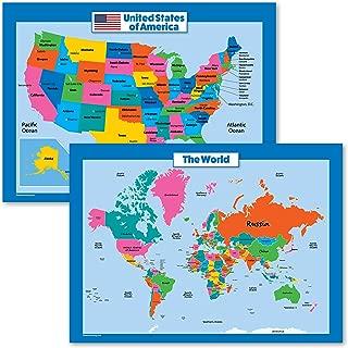 world map for kindergarten