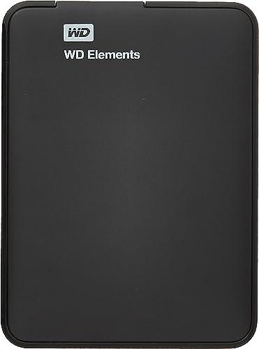 Western Digital Elements 1TB USB 3.0 Portable External Hard Drive (Black)