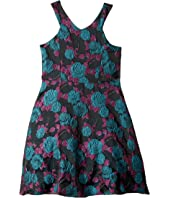 Us Angels - Cut Away Fit and Flare Dress with Flowers (Big Kids)