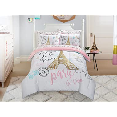 Heritage Kids Bonjour Comforter Set, Pink, Twin