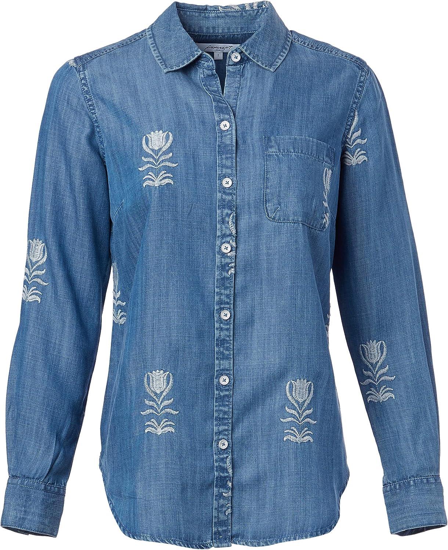 Foxcroft Women's Haven Embroidered Tencel Luxury goods Ranking TOP19 Shirt