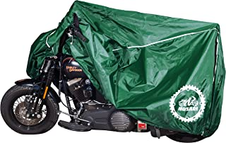 Premium Weather Resistant Covers Waterproof Polyester w/Soft Screen & Heat Resistant Shields.Motorcycle Cover has Lockable fabric, Durable & Long Lasting.Sportbikes & Cruisers (X-large, Hunter Green)