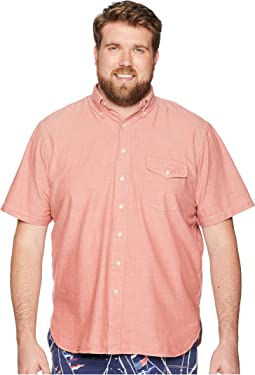 Big & Tall Chambray Button Down Short Sleeve Sport Shirt