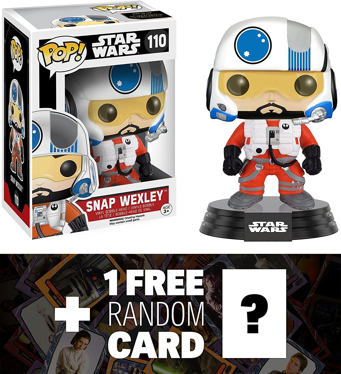 Snap Wexley  Funko POP  x Star Wars Vinyl Bobble-Head Figure w  Stand + 1 FREE Official Star Wars Trading Card Bundle (096144)