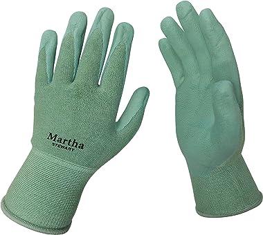 Martha Stewart MTS-GLVNP2-M All-Purpose Non-Slip Garden Gloves, Medium, Mint, 2-Pack