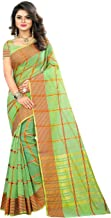 The Fashion Outlets Women's Cotton Silk Manipuri Saree with Blouse (Red and Green)